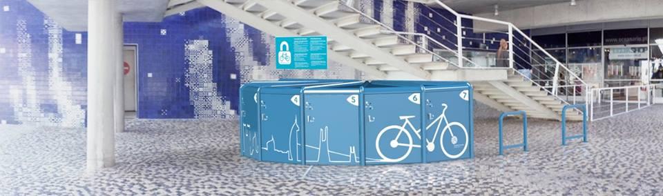 OCEANÁRIO Instala sistema inovador para estacionamento de Bicicletas da Biciway